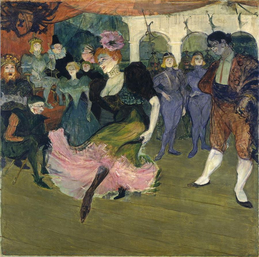 Marcelle Lender Dancing The Bolero In Chilperic Painting by Henri de Toulouse-Lautrec