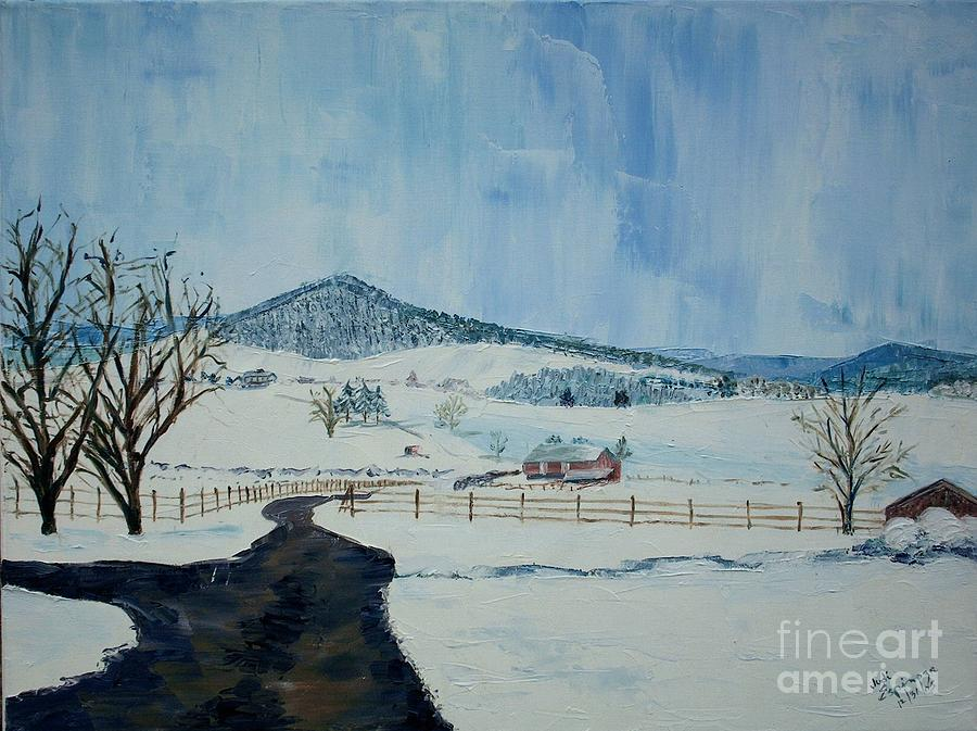 March Snow On Mole Hill - Sold Painting by Judith Espinoza