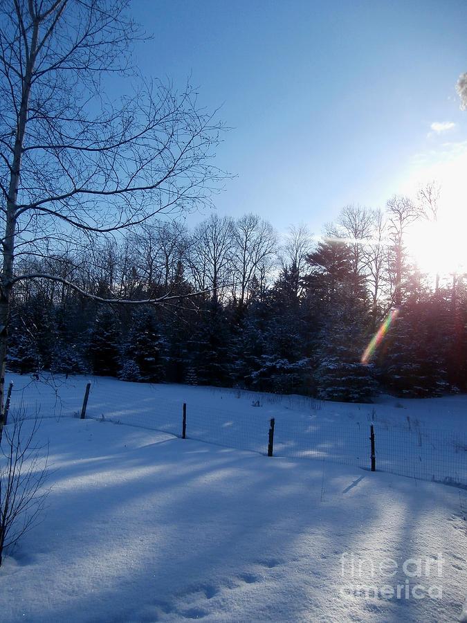 Snow Landscape Photograph - March Sunrise by Steven Valkenberg