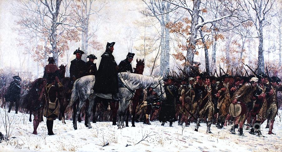 Pd Painting - March To Valley Forge  by Pg Reproductions