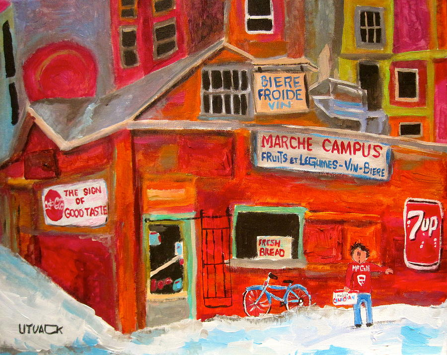 Montreal Painting - Marche Campus by Michael Litvack