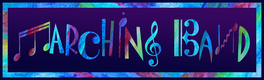 Band Digital Art - Marching Band by Jenny Armitage