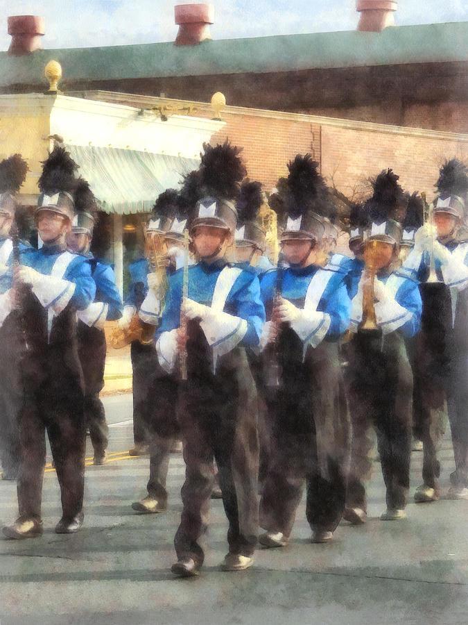 Trumpet Photograph - Marching Band by Susan Savad