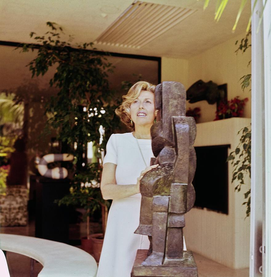 Marcia Weisman At Home Photograph by Horst P. Horst