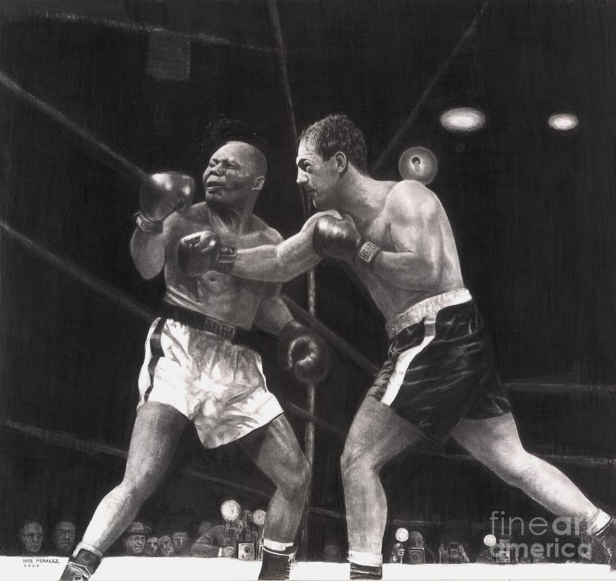 Boxing Drawings Drawing - Marciano Kayos Walcott by Noe Peralez