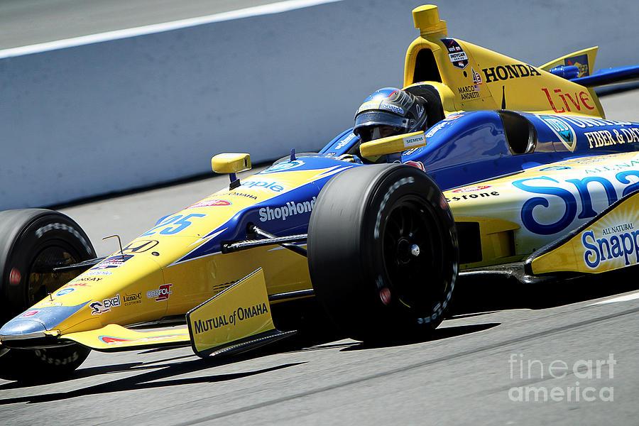 Indycar Photograph - Marco Andretti Pit Lane by Bryan Maransky
