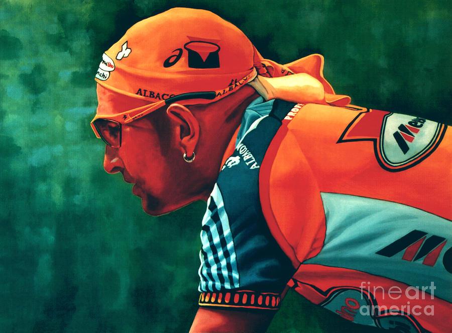 Marco Pantani Painting - Marco Pantani 2 by Paul Meijering
