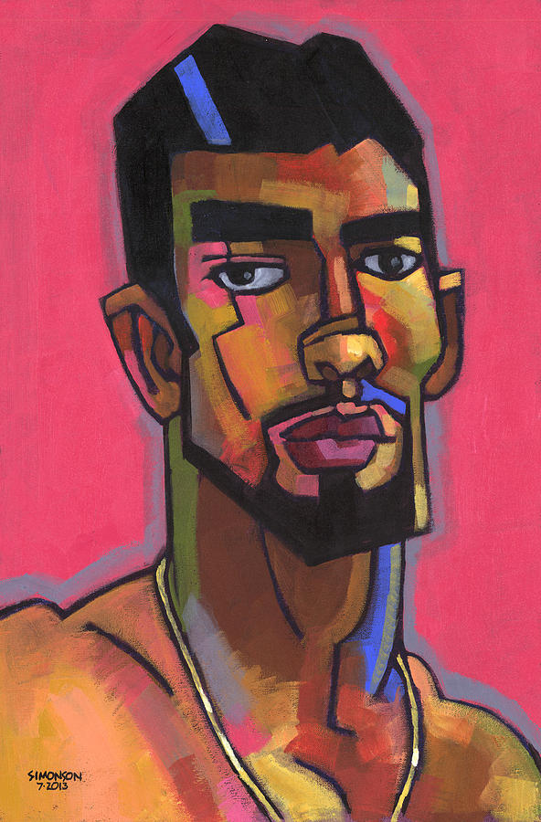 Portrait Painting - Marco With Gold Chain by Douglas Simonson