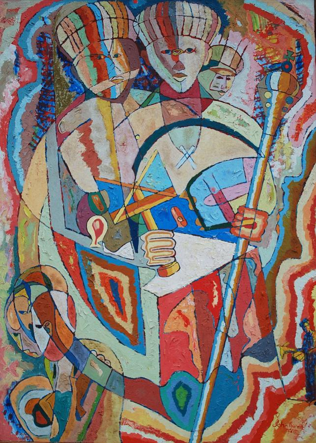 Johnpowellpaintings Painting - Marcus Garvey And Elders by John Powell