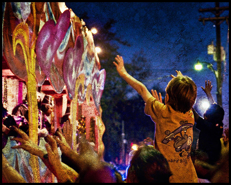 New Photograph - Mardi Gras At Night by Ray Devlin