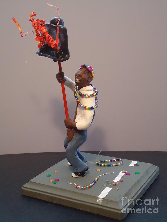 Sculpture Sculpture - Mardi Gras Flambeau by Katie Spicuzza
