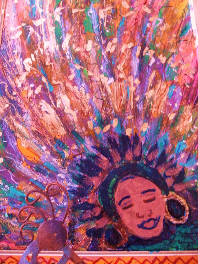 Bright Mixed Media - Mardi Gras Girl Revisited by Anne-Elizabeth Whiteway