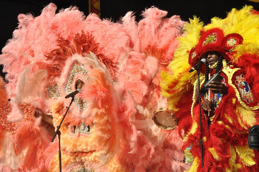 Mardi Gras Indians Photograph - Mardi Gras Indians by Diane Lent