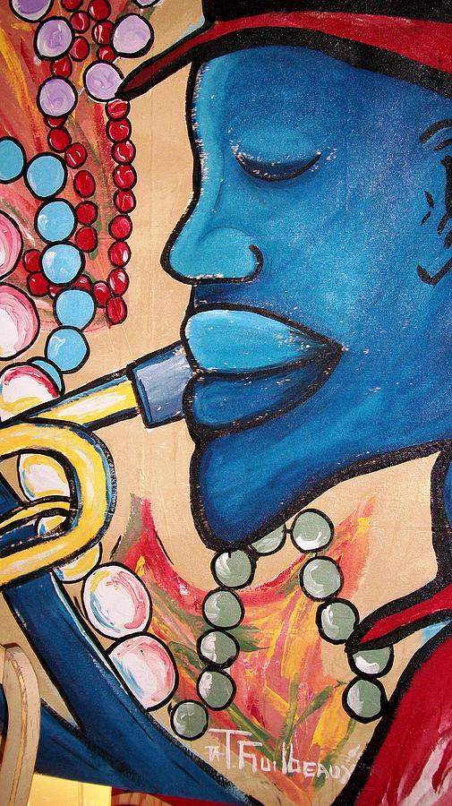 Jazz Painting - Mardi Gras Jazz by Guilbeaux Gallery