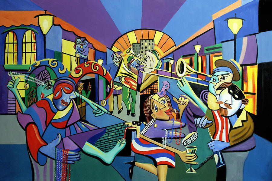 Mardi Gras Painting - Mardi Gras Lets Get The Party Started by Anthony Falbo