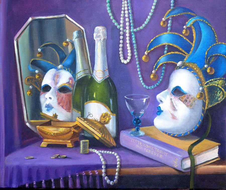 Pearls Painting - Mardi Gras by Rich Kuhn