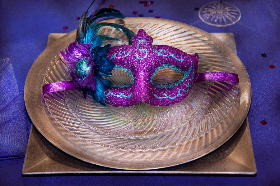 Mardi Gras Photograph - Mardi Gras Theme - Surprise Guest by Mike Savad