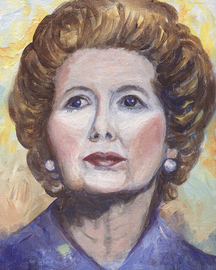 Margaret Thatcher Painting - Margaret Thatcher Two by Linda Mears