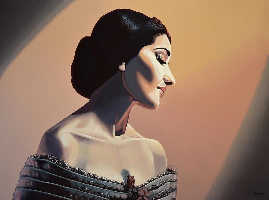 Maria Callas Painting - Maria Callas Painting by Paul Meijering