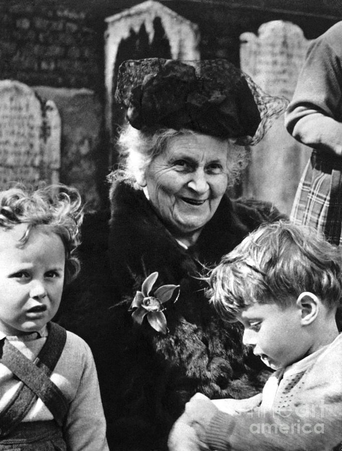 19th Century Photograph - Maria Montessori by Granger