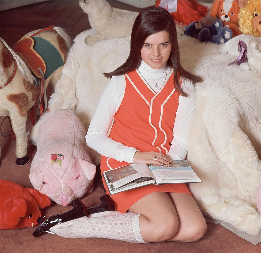 Maria Shriver Sitting Amongst Stuffed Animals Photograph by Henry Clarke