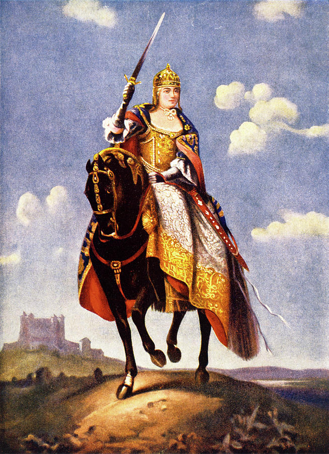 Vertical Painting - Maria Theresa Of Austria Coronation by Vintage Images