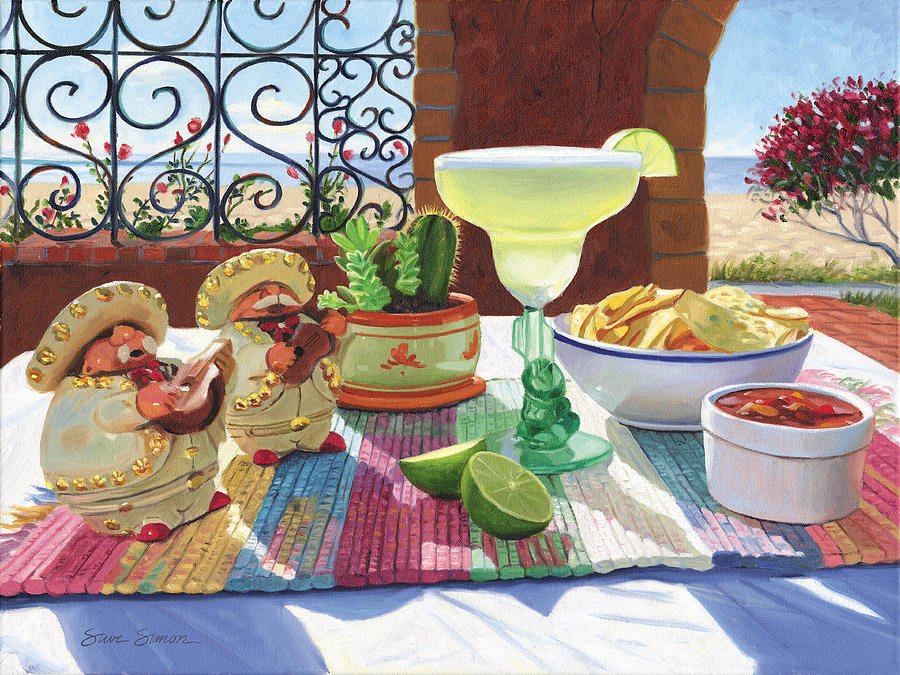 Cocktail Painting - Mariachi Margarita by Steve Simon