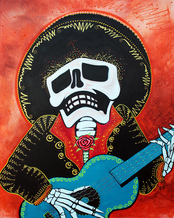 Acrylic Painting - Mariachi Musician by Laura Barbosa