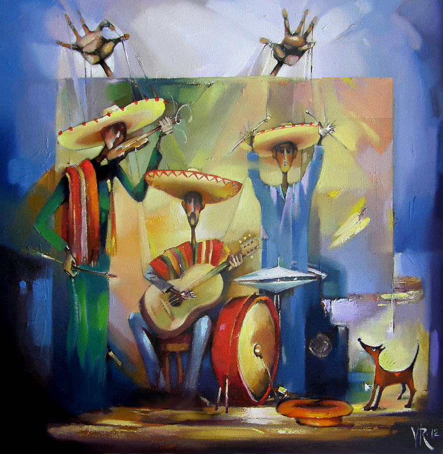 Mariachi Painting - Mariachi  by Valentina Ragsdale