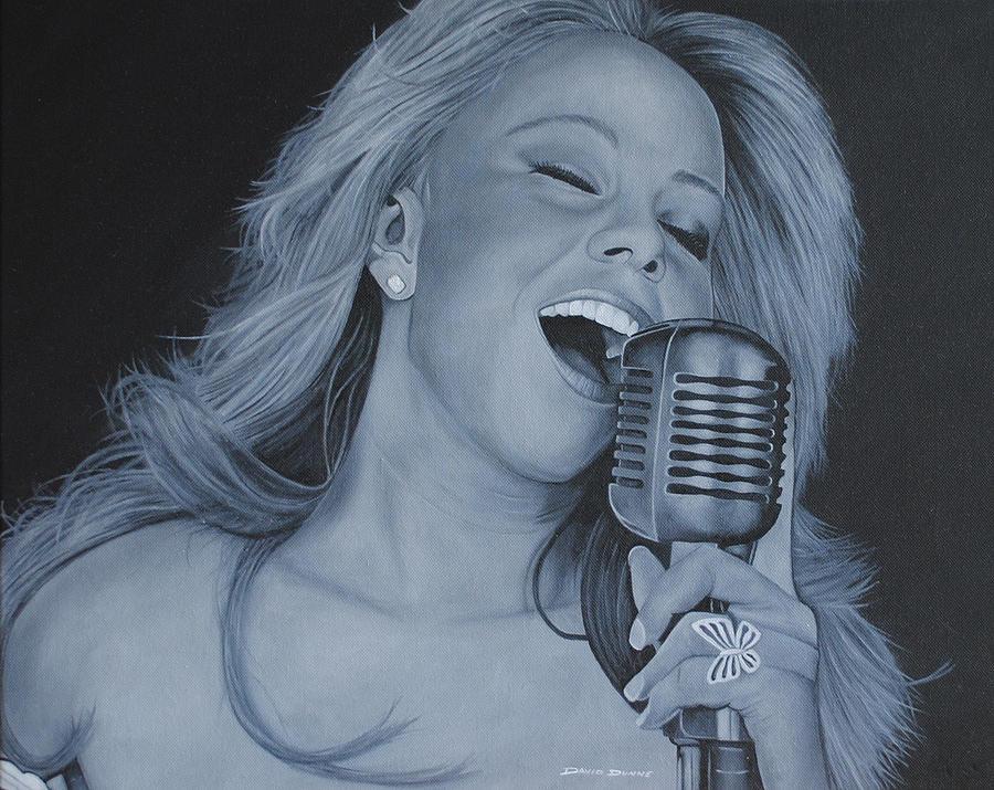 Mariah Carey Painting - Mariah Carey by David Dunne