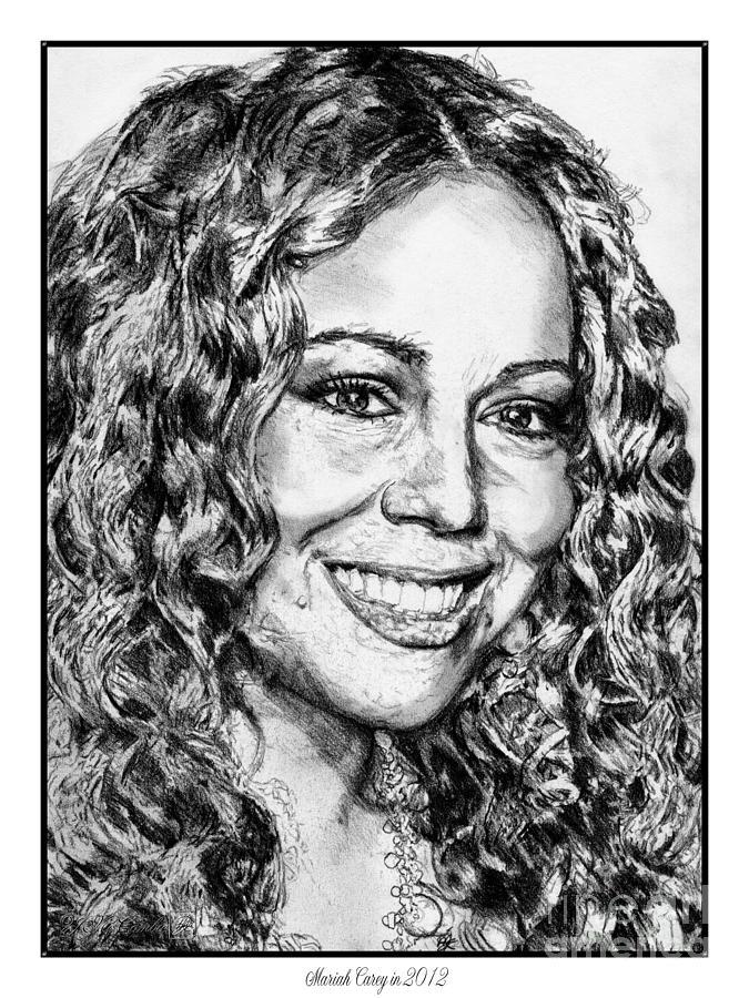 Mccombie Drawing - Mariah Carey In 2012 by J McCombie