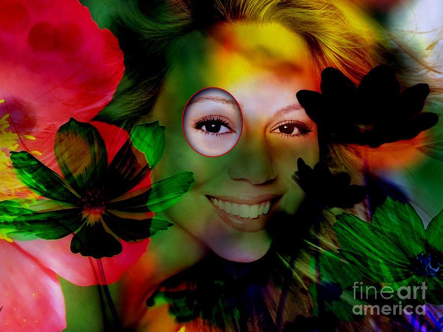Celebrity Mixed Media - Mariah Carey by Marvin Blaine