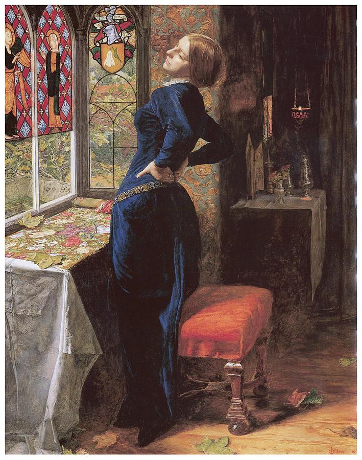 John Everett Millais Painting - Mariana by John Everett Millais