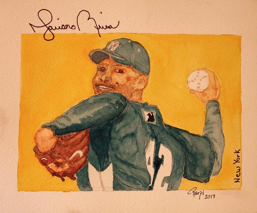Rivera Painting - Mariano Rivera  by Rand Swift