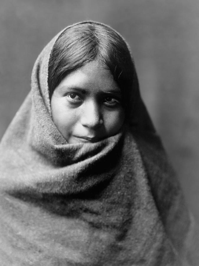 1907 Photograph - Maricopa Indian Woman Circa 1907 by Aged Pixel