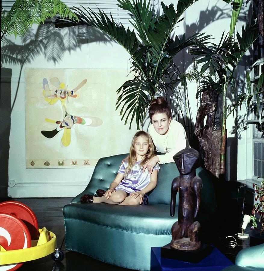 Marie-christophe De Menil Thurman At Home Photograph by Horst P. Horst