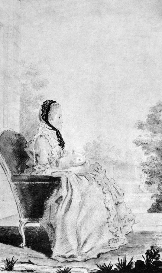 18th Century Painting - Marie De Vichy-chamrond (1679-1780) by Granger