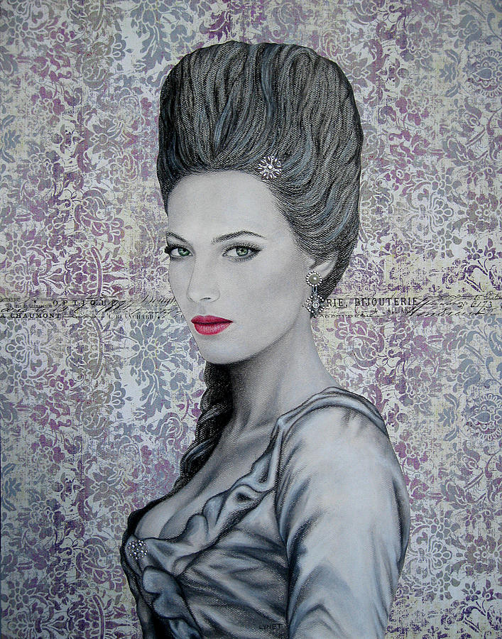 Woman Painting - Marie by Lynet McDonald