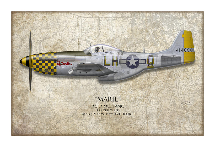 Aviation Painting - Marie Map by Craig Tinder
