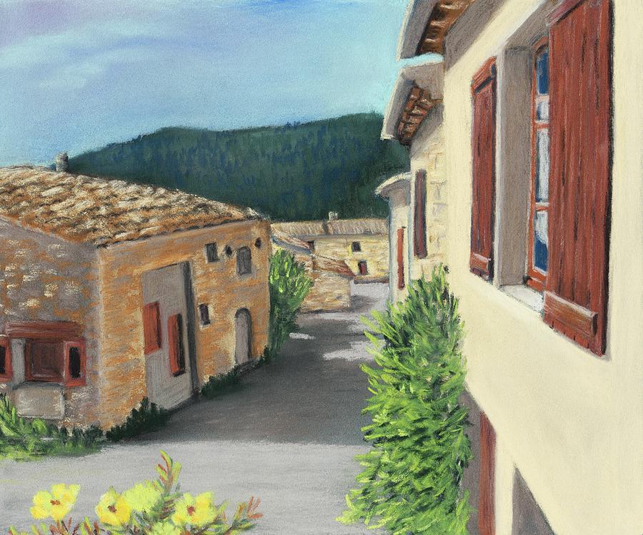 South France Painting - Marignac-en-diois by Anastasiya Malakhova