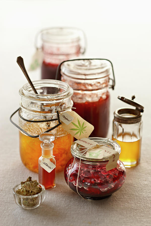 Marijuana Infused Preserves Photograph by Lew Robertson