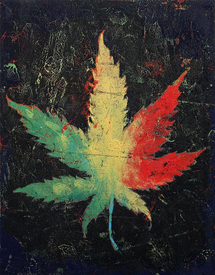 Marijuana Painting By Michael Creese
