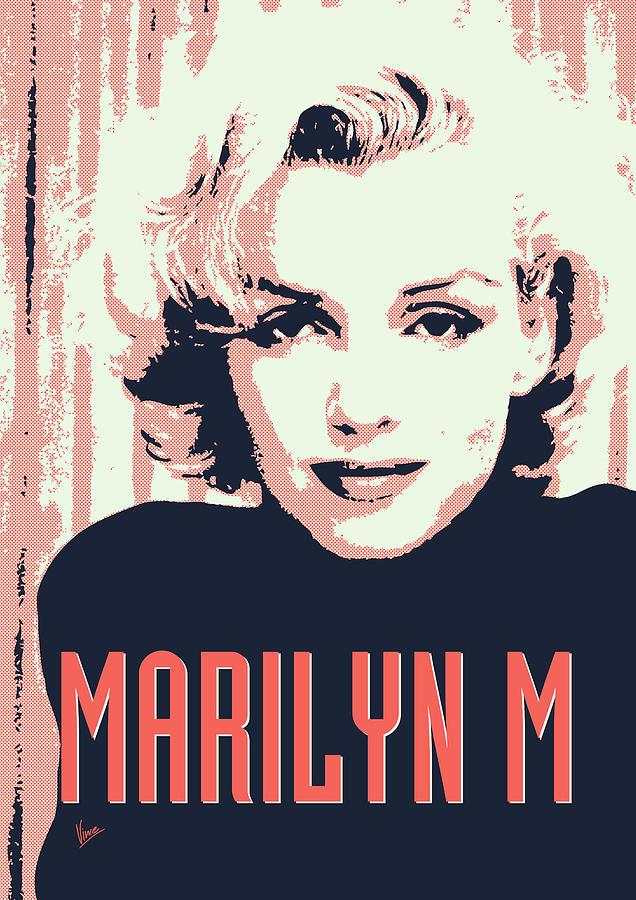 Claudia Digital Art - Marilyn M by Chungkong Art