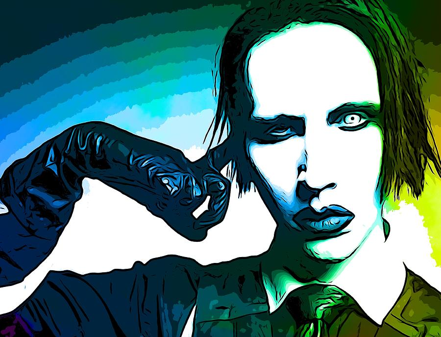Marilyn Manson Mixed Media - Marilyn Manson Poster by Dan Sproul