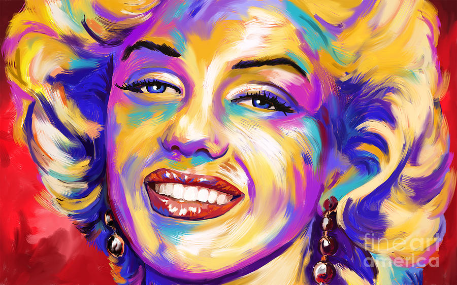 Marilyn Monroe Abstract Expressionism Painting By Tim Gilliland