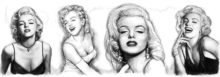 marilyn monroe art long drawing sketch poster painting marilyn monroe art long drawing sketch poster