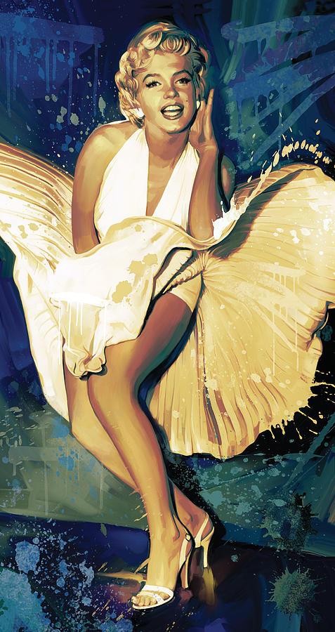 Marilyn Monroe Artwork 4 Painting by Sheraz A