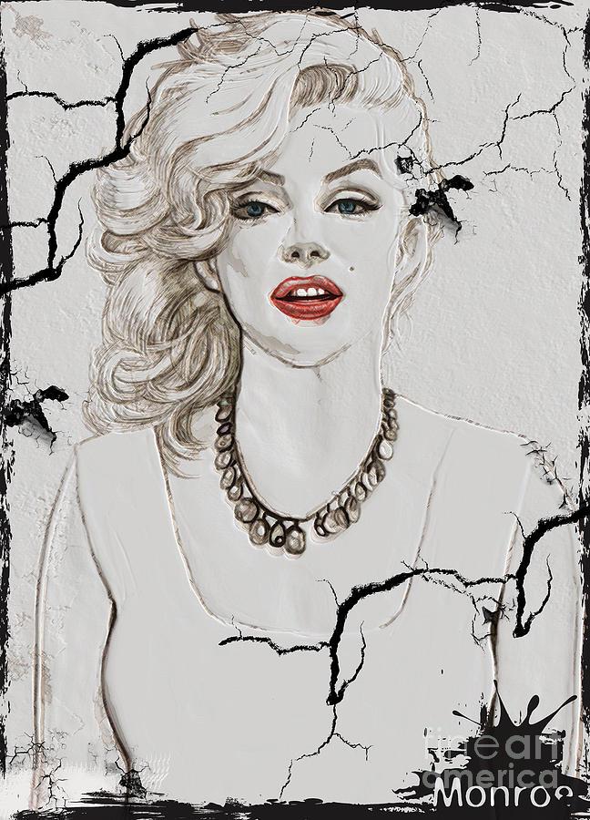 Marilyn Monroe Painting - Marilyn Monroe Broken Wall by Creativehelper