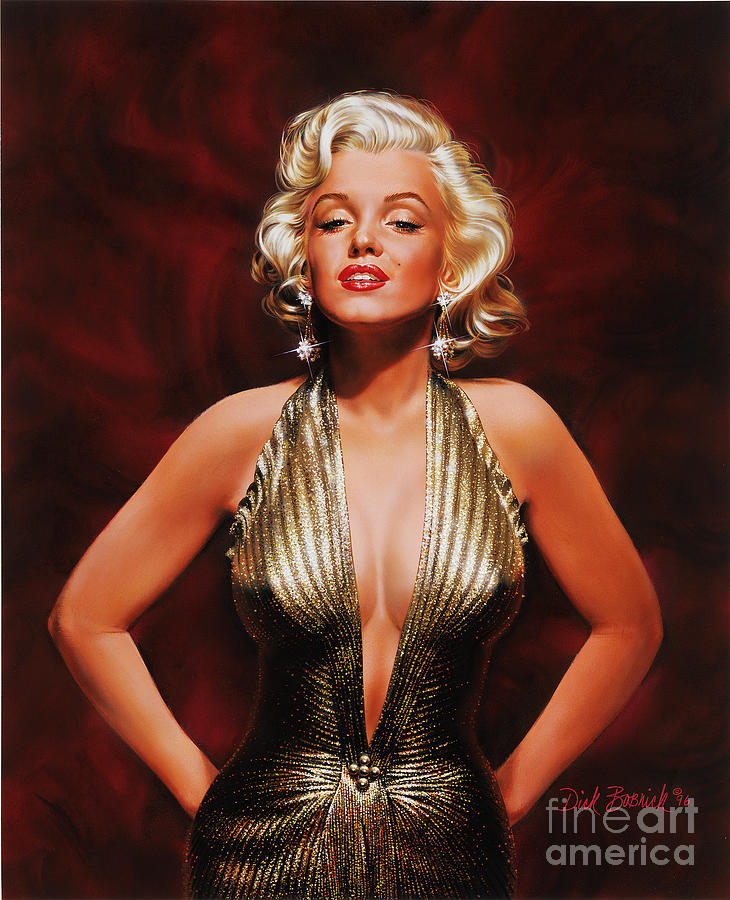 Portrait Painting - Marilyn Monroe by Dick Bobnick