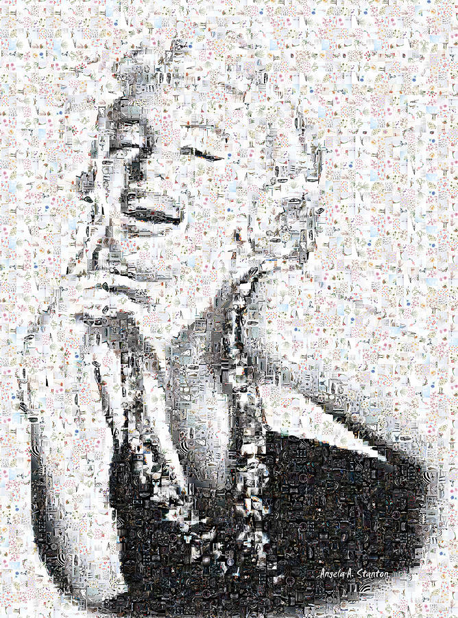 Marilyn Photograph - Marilyn Monroe In Mosaic by Angela A Stanton